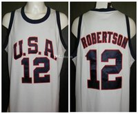 Wholesale 12 usa resale online - Oscar Robertson USA Dream Team Rome Summer Olympics Retro Basketball Jersey Mens Stitched Custom Any Number Name Jerseys