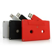 Wholesale custom usb flash drives for sale - Group buy Cassette Audio Tape USB Flash Drive USB Personalized Custom Studio Pendrive