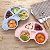 Toddler Infant Baby Dishes Cartoon Car Shape plate Environmentally Separated Child Food Plates Kids Dinnerware Tableware Tray
