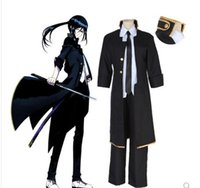 anime k venda por atacado-2019 Anime Japonês K-projeto Yatogami Casaco Preto Uniforme Cão Cosplay Traje de Halloween Roupas Conjunto Completo Tops Calças