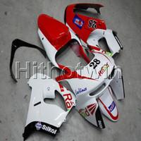 carénage zx9r 98 99 achat en gros de-23colors + Cadeaux ABS rouge blanc carénage capot de moto Pour Kawasaki ZX-9R 1998-1999 ZX9R 98 99 Kit carrosserie