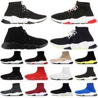 zapatos joker corea del sur al por mayor-Balenciaga 2019 Moda lujo hombres mujeres zapatos calcetín con cordones negro blanco rojo plataforma diseñador hombres entrenadores Speed Trainers zapatillas casual tamaño 36-45