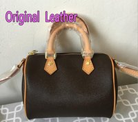 Wholesale small hasp lock for sale - With Strap Women Famous Canvas real leather Handbags Designer Shoulder Bag