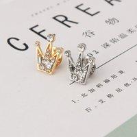 mini broschen china großhandel-Voller Diamant Kristall Mini Unisex kleine Krone Brosche Hochzeit Partei Anzug Anzug Hemd Hemd Brosche Valentinstag Geschenk