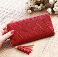 6fc967ea7 Moda dama billetera clip de dinero Rojo de alta capacidad largo embrague  Mujer monedero dama monederos teléfono bolsillo titular de la tarjeta  Carteras