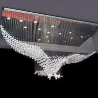 luz do corredor venda por atacado-Eagles personalizar o design de luxo LED candelabro de cristal de iluminação do candelabro do brilho das luzes Cristal Lâmpada L100 * W55 * H80cm 110v-220v