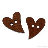 декоративное шитье оптовых-50шт 2 отверстия смешанное сердце деревянные декоративные кнопки подходят швейные ремесла скрапбукинга