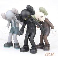 ingrosso figurine del partito di nozze-Altezza di 28 cm Kaws SMLLL bugia cultura figurine nuovo kaws figurine bambole di mano festa di nozze regali rifornimenti del partito compleanni giocattoli spedizione gratuita