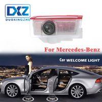 ingrosso luci dell'ombra del portone dell'automobile-LED Car Door Welcome Proiettore Laser Logo Door Ghost Shadow LED Light per Mercedes Benz W212 W166 W176 E200 E300 E260 AMG