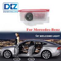 iluminación de la sombra del laser de la puerta del coche al por mayor-LED de la puerta agradable del coche de proyección de láser Ghost Logo puerta de la luz de la sombra LED para Mercedes Benz w212 w166 w176 E200 E300 E260 AMG
