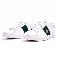 Wholesale cock online - 2019 Classic Running Shoes Small White Shoes Casual Trainers Women Men Sports Sneakers Embroidery Bee Cock Tiger Dog