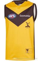 löwen rugby großhandel-2019 Brisbane Lions Essendon Bombers Weste Jersey Hawthorn Legends Guernsey Ärmellose australische Football AFL Trikots Größe S-3XL