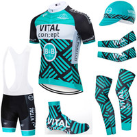 6PCS Full Set TEAM 2020 vital concept cycling jersey 20D bike shorts Set Ropa Ciclismo summer quick dry pro BICYCLING Maillot bottoms wear