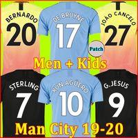Wholesale soccer jerseys for sale - Group buy TOP soccer jersey city G JESUS MAHREZ DE BRUYNE KUN AGUERO football shirt MENDY MAN uniforms away manchester men kids kit