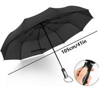 ingrosso grande piegatura ombrello-Ombrello maschio Q190603 delle donne della pioggia antivento di grandi uomini automatici pieganti resistenti al vento