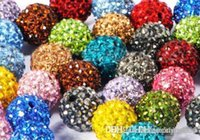 Wholesale disco flower bracelet resale online - 100pcs mm mixed k252 color Micro Pave CZ Disco Crystal crystal Bead Bracelet Necklace Beads Hot beads Rhinestone DIY y4535 w62