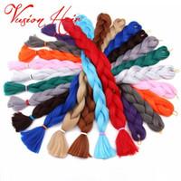 Wholesale synthetic mixed human hair resale online - Synthetic Kanekalon Braiding Hair human inches g pack Crochet Braids Bulk Hair Synthetic Jumbo Braiding Crochet Hair Exte