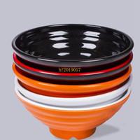 tazones de sopa japonesa al por mayor-100 unids / lote 8 pulgadas Ramen Bowl Coreano Restaurante Japonés Uso Gran Sopa de Melamina Fideos Tazón Vajilla Arroz Contenedor de Comida