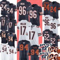 maillot de football broderie achat en gros de-94 Leonard Floyd Chicago Bears Jersey 17 Anthony Miller 96 Akiem Hicks 24 Howard Football Maillots Broderie Logos S-XXXL