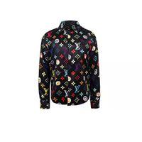 novo modelo camisas homens venda por atacado-Novo estilo europeu e americano designer de camisa de cor padrão de impressão Magro dos homens camisa casual senhoras Medusa camisa de vestido