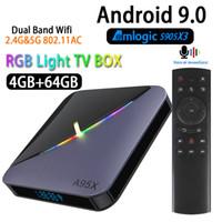 Wholesale android iptv tv box resale online - A95X F3 Android Transpeed K Amlogic S905X3 TV BOX4K Youtube Netflix wifi GB GB GB GB RGB Light IPTV TV Box