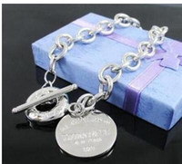 Wholesale bezel charms for sale - Group buy 2019 new tiffany925 silver brand jewelry designer original box sterling silver women s bracelet