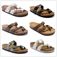 ingrosso stampare le donne piatta scarpe-Mayari 805 Arizona Gizeh 2019 vendita calda estate uomo donna sandali piatti sughero pantofole pantofole casual unisex stampa colori misti taglia US3-15
