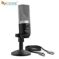 Wholesale microphones for teaching resale online - FIFINE USB condenser microphone for computer professional recording MIC for Youtube Skype meeting game one line teaching T191021