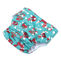 Wholesale cloth diaper print insert online - Baby Cloth Diaper Most Popular Cartoon print Microfiber Insert Baby Nappies with Liners Unique Diaper Covers