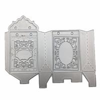 caramelos de invitaciones al por mayor-198mmx162mm Regalo / Caja de Dulces de Metal Troqueles de Corte 3D DIY Scrapbooking Carbon Sharp Craft Die Photo Tarjetas de Invitación Decoración