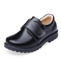 Wholesale shoes uniforms for sale - Group buy Boys Wedding Leather Shoes for Children Genuine Leather School Brogue Shoes Kids Oxford Uniform Black Rubber Sole Pigskin Inside
