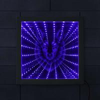 neonlicht dekor großhandel-Wolfskopf Unendlichkeitsspiegel Wolf Porträt LED beleuchteter Bilderrahmen Wildlife Lighting Decor animierte Neonlicht Tunnel Lampe