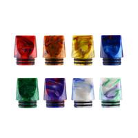 clearomizer en verre pour ce4 achat en gros de-Embout compte-gouttes plat en résine époxy 810 de Mtl avec un double anneau en acier