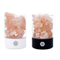 Wholesale rock salt resale online - Natural Rock Lamp USB Rechargeable Crystal Salt Light Air Purifier Home Decor Small Night Light Eye Care Ionizer