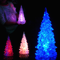 Wholesale candle shape lamp for sale - Group buy 1PC Christmas Tree shape LED Acrylic Light Color Changing Lamp Party Christmas Decoration for Home Xmas Gift Fashion new year