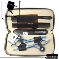 4.5 haarschere großhandel-6,0 Zoll Smith Chu Beste Schere Professionelle Haarschere Schneiden Effilierschere Salon Rasiermesser Friseur Friseur Set mit Fall K5445