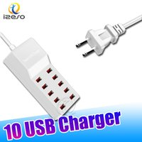 Wholesale smart usb ports hub for sale - Group buy 10 USB Ports Quick Charger V A High Speed Fast Charging Smart USB HUB Power Adapter for All Phones with Retail Package izeso