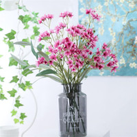 Wholesale flower lights stems resale online - Fake Short Stem Campanula stems piece quot Length Simulation Windbell Flowers for Wedding Home Decorative Artificial Flower