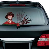 limpador de etiquetas venda por atacado-Pára-brisas Car Styling Halloween ondulação Wiper decalques PVC janela traseira Wiper Adesivos traseiro Adesivos De Carro Adesivos e decalques