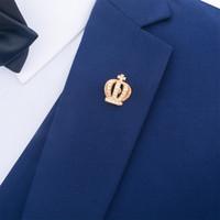 gold corsage zubehör großhandel-Ein Freies Verschiffen Goldene Kristall Pin Queen Crown Brosche Kleidung Exquisite Männer und Frauen Kragen Anzug Corsage Mode-Accessoires