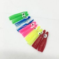 """Luminous Lime Green 5.5/"""" to 8.5/"""" Octopus Squid Replacement Skirt 3 Pack"""