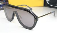 männer markenbrillen großhandel-hot men brand designer sonnenbrillen 0399 klassische metall beine vintage glänzende brille sommer stil laser logo top qualität