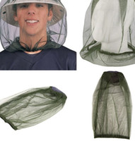 Wholesale head net hat resale online - Mosquito head net not including hat Mosquito Resistance Bug Insect Bee Net Mesh Head Face Protector Mosquito Insect Hat mesh KKA7866
