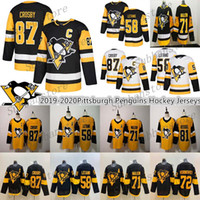 patric hornqvist jersey  al por mayor-2019-2020 Noticias Pittsburgh Penguins Jersey 87 Sidney Crosby 58 Kris Letang 71 Evgeni Malkin 72 Patric Hornqvist los jerseys del hockey