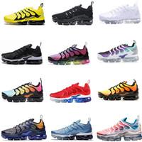 yeni tn ayakkabıları toptan satış-Ücretsiz Kargo Yeni 2019 Erkek Ayakkabı Sneakers TN Artı Nefes Hava Cusion Desingers Rahat Koşu Ayakkabıları Yeni Varış Renk US5.5-11 EUR36-45