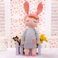 kızlar için metoo bebek toptan satış-Bebek 13 Inç Brinquedos Peluş Sevimli Dolması Bonecas Bebek Çocuk Oyuncakları Kız Doğum Günü Noel Hediyesi Angela Tavşan Kız Metoo doll