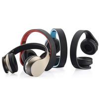 mikro sd kartlı kulaklıklar toptan satış-LH-811 Kablosuz bluetooth kulaklık 4 in 1 Bluetooth 3.0 + EDR Kulaklıklar ile destekli Mikro SD kart MP3 Çalar FM radyo Micphone için Akıllı