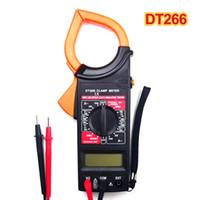 Wholesale digital dc amp meter display for sale - Group buy New DT266 Handheld Clamp LCD Digital Multimeter AC DC Ohm Volt Amp Meter Tester Auto Ranging voltage meter Pointer Display