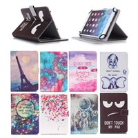 Wholesale 9.6 inch tablets resale online - Printed Universal inch Tablet Case for Apple iPad Air Air Cases kickstand PU Leather Flip Cover Case for iPad
