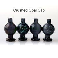 prego de opala venda por atacado-New Esmagado bolha Opal Cap 26mmOD Heady vidro Carb Cap Acessórios fumar Para chanfrado borda Quartz Banger Nails copo de água Bongos Dab Rigs